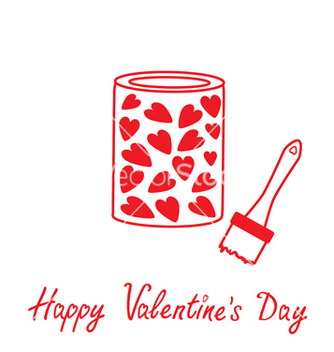 Free love paint with hearts inside happy valentines day vector - бесплатный vector #238611