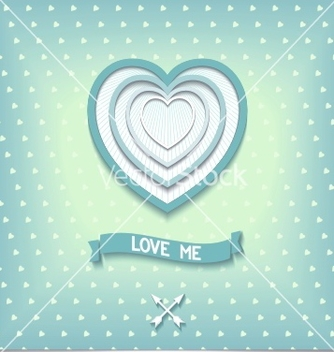 Free beautiful retro design heart love me vector - Free vector #238671