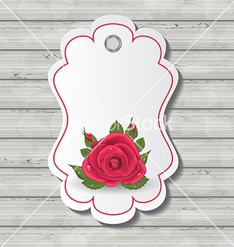 Free elegant card with red rose for valentine day vector - Kostenloses vector #238751