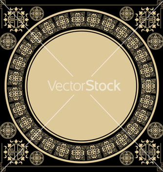Free vintage square background with design elements vector - Free vector #238771