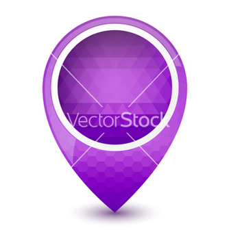 Free purple round 3d map pointer vector - Free vector #238781
