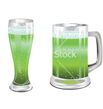Free green beer glass vector - Free vector #238831