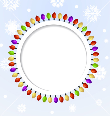 Christmas Lights Vector Free.Free Round Abstract Background With Christmas Lights Vector