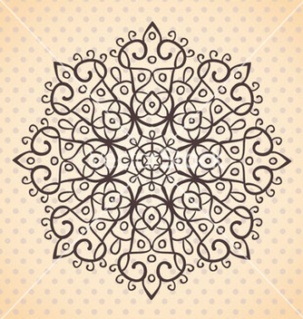 Free ehtnic lace round element vector - Free vector #238881