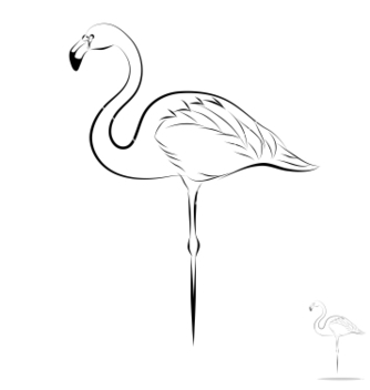 Free stylized flamingo vector - Free vector #239251