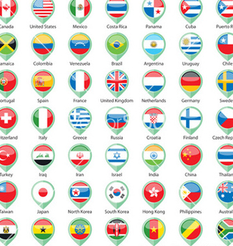 Free international flags pointer vector - vector gratuit #239271