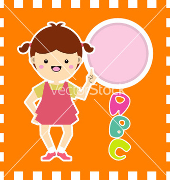 Free cute little girl vector - Free vector #239311