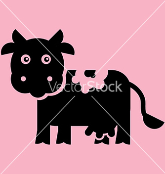 Free flat cow vector - Free vector #239421