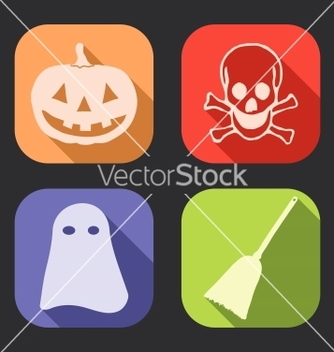 Free halloween long shadow icon vector - Kostenloses vector #239581