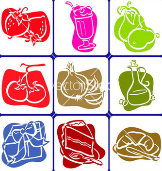 Free abstract food icons vector - Kostenloses vector #239621