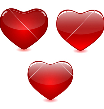 Free set of red hearts vector - vector gratuit #239631