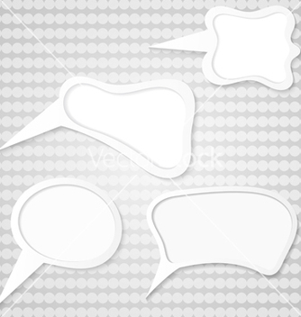 Free set of speech bubbles vector - vector gratuit #239741