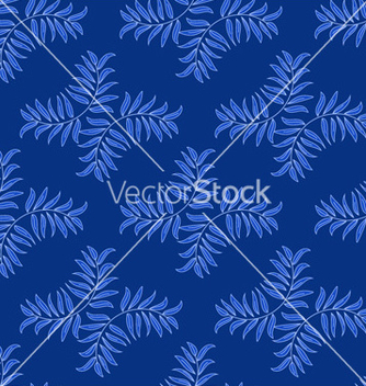 Free blue floral pattern with leaves vector - Free vector #239831