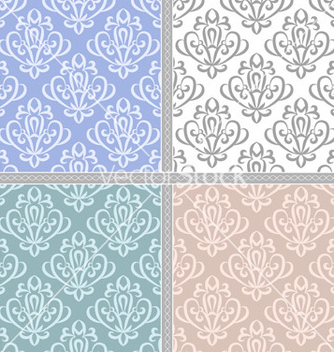 Free seamless ethnic vintage pattern set vector - бесплатный vector #239861