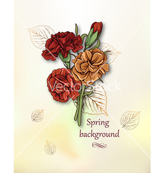 Free floral background vector - Free vector #240131