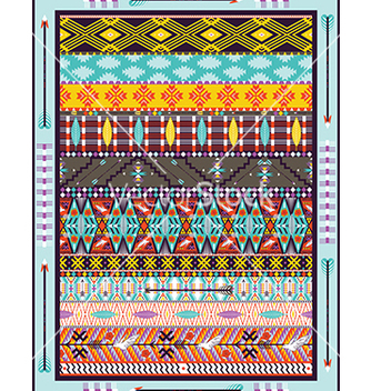 Free seamless colorful geometric tribal vector - бесплатный vector #240201