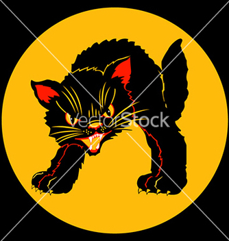Free halloween black cat vector - Free vector #240211