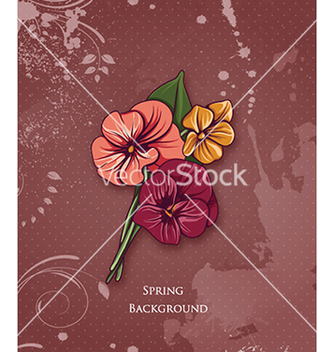 Free floral background vector - Free vector #240231