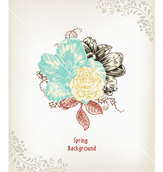 Free floral background vector - Free vector #240261