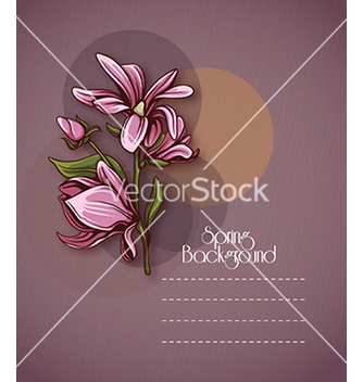 Free floral background vector - Free vector #240281