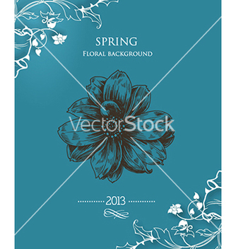 Free floral background vector - Free vector #240331