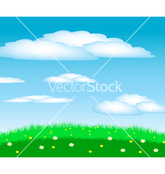 Free glade with flower vector - бесплатный vector #240421