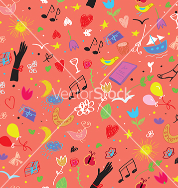 Free party seamless pattern vector - Free vector #240461