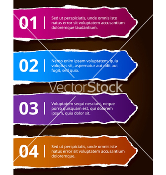Free paper number options banners vector - vector #240471 gratis