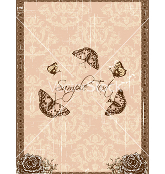 Free vintage floral background vector - vector gratuit #240911
