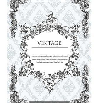 Free vintage frame with floral vector - Free vector #240981