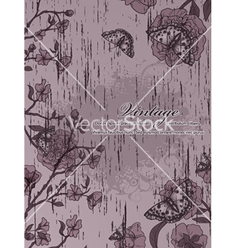 Free grunge floral background vector - vector gratuit #241051