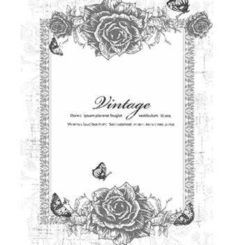 Free vintage frame with floral vector - Free vector #241061