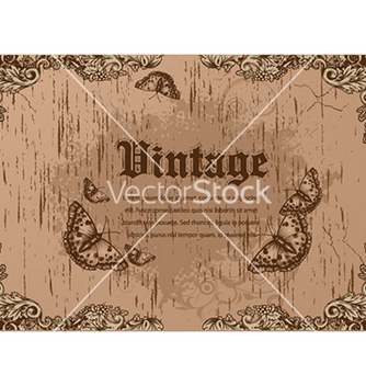 Free vintage floral background vector - Kostenloses vector #241081