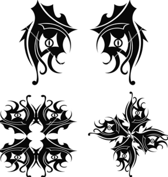 Free graphic design tribal tattoo vector - Free vector #241161