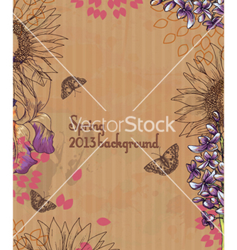 Free floral background vector - Free vector #241501