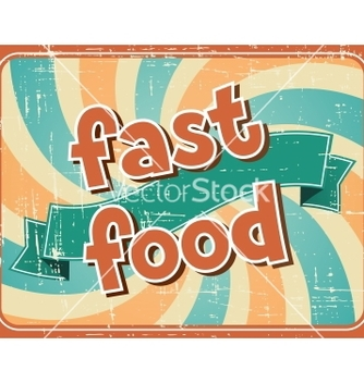 Free fast food background in retro style vector - Free vector #241631