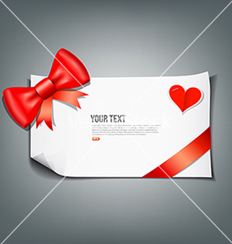Free red ribbon and white paper design background vector - Kostenloses vector #242201