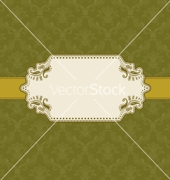 Free template frame design for greeting card vector - Free vector #242291