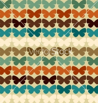 Free seamless pattern with butterflies in retro style vector - Kostenloses vector #242411