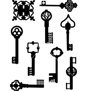 Free collection of old keys vector - vector #242431 gratis