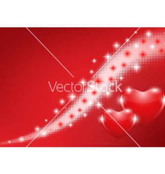 Free red background with hearts vector - vector gratuit #242581