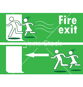 Free emergency fire exit vector - vector gratuit #242651