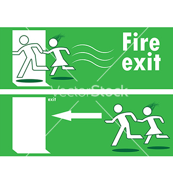 Free emergency fire exit vector - Free vector #242651