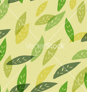 Free seamless leaves pattern vector - vector gratuit #242711