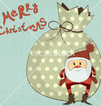 Free christmas cards with cartoon santa vector - vector gratuit #242741