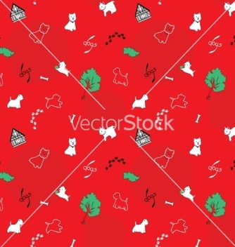Free dogs seamless pattern vector - vector #242751 gratis