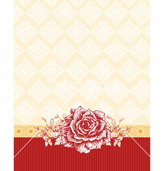 Free invitation with floral vector - Free vector #242871