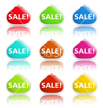 Free sale banners shaped as purse vector - vector gratuit #243031