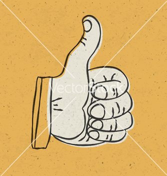 Free retro thumbs up vector - Free vector #243061