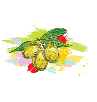 Free vegetables with grunge vector - vector #243181 gratis